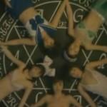 怨霊成仏させるために魔方陣の上で交霊乱交レズフェスティバル