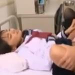 保健室でセーラー服を着たまま性交顔射のイケナイ授業【歩原ひかる】