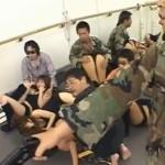 ダンス教室に突入してきた革命軍による集団凌辱