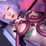 触手にプラグスーツのまま二穴凌辱される綾波レイ【エロアニメ】