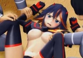 纏流子の敗北!三つ穴輪姦調教されたヒロインの末路【3Dアニメ】