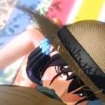 海辺のレジャーシートの上で麦藁帽子の女の子に激しくバキュームフェラ【エロアニメ】