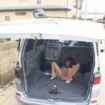 外から見えちゃう車の中で開脚ローターオナニーして惨めな絶頂姿を晒し喘ぐ